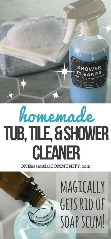 Homemade shower cleaner cleaning tips homemade shower - Diy bathroom cleaner essential oils ...