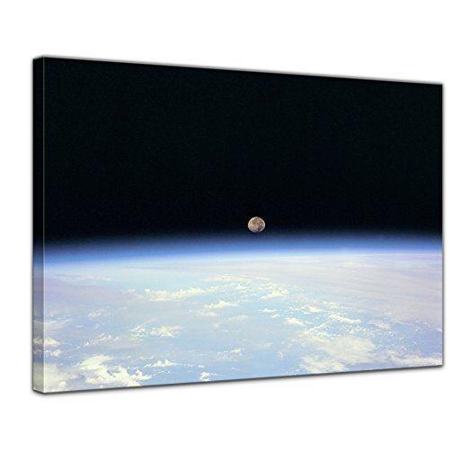 Bilderdepot24 Kunstdruck - Weltraum - Bild auf Leinwand 40 x 30 cm