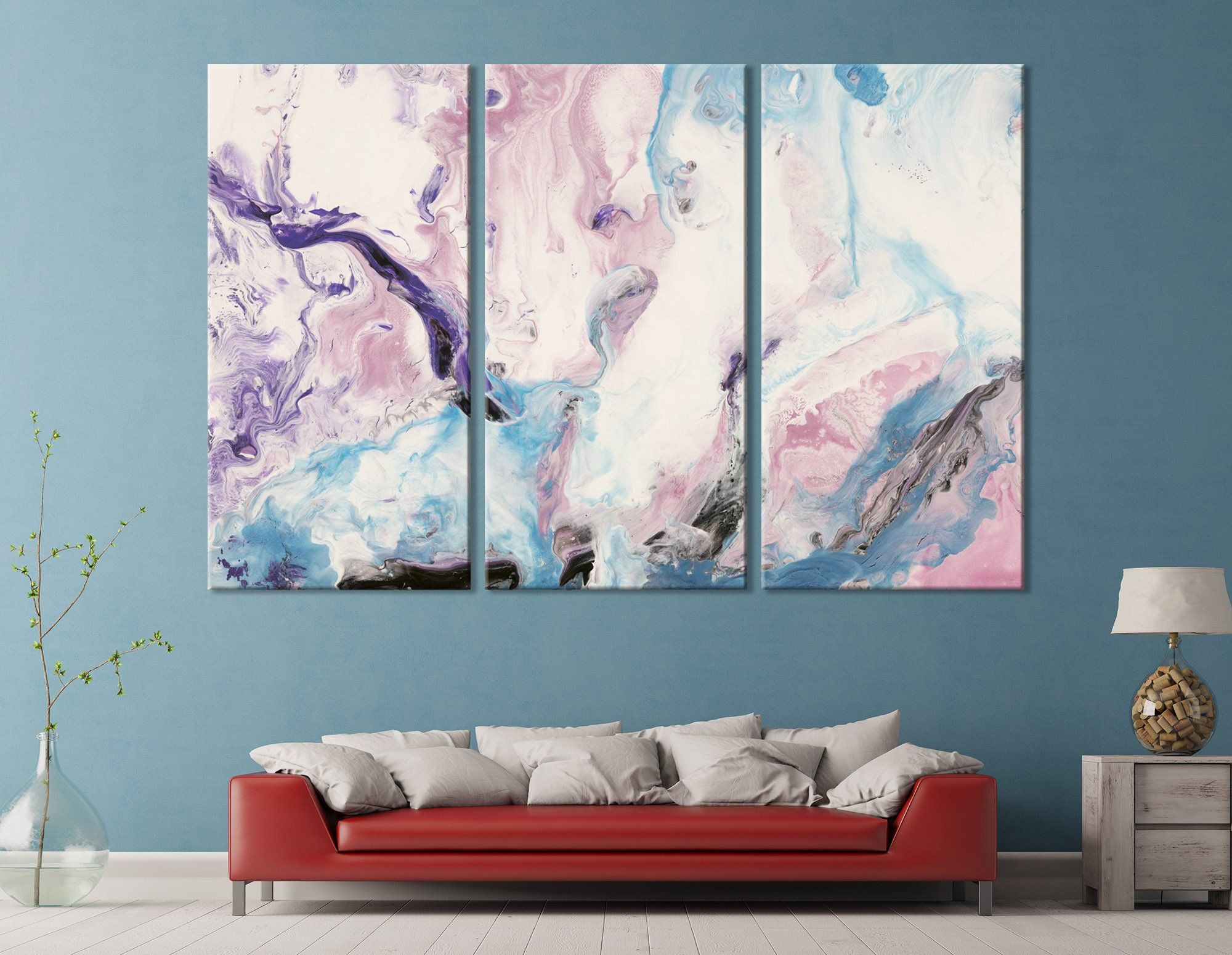 Marble Canvas Print Creative Abstract Wall Art Pink And Etsy Abstract Wall Art Purple Artwork Room Artwork