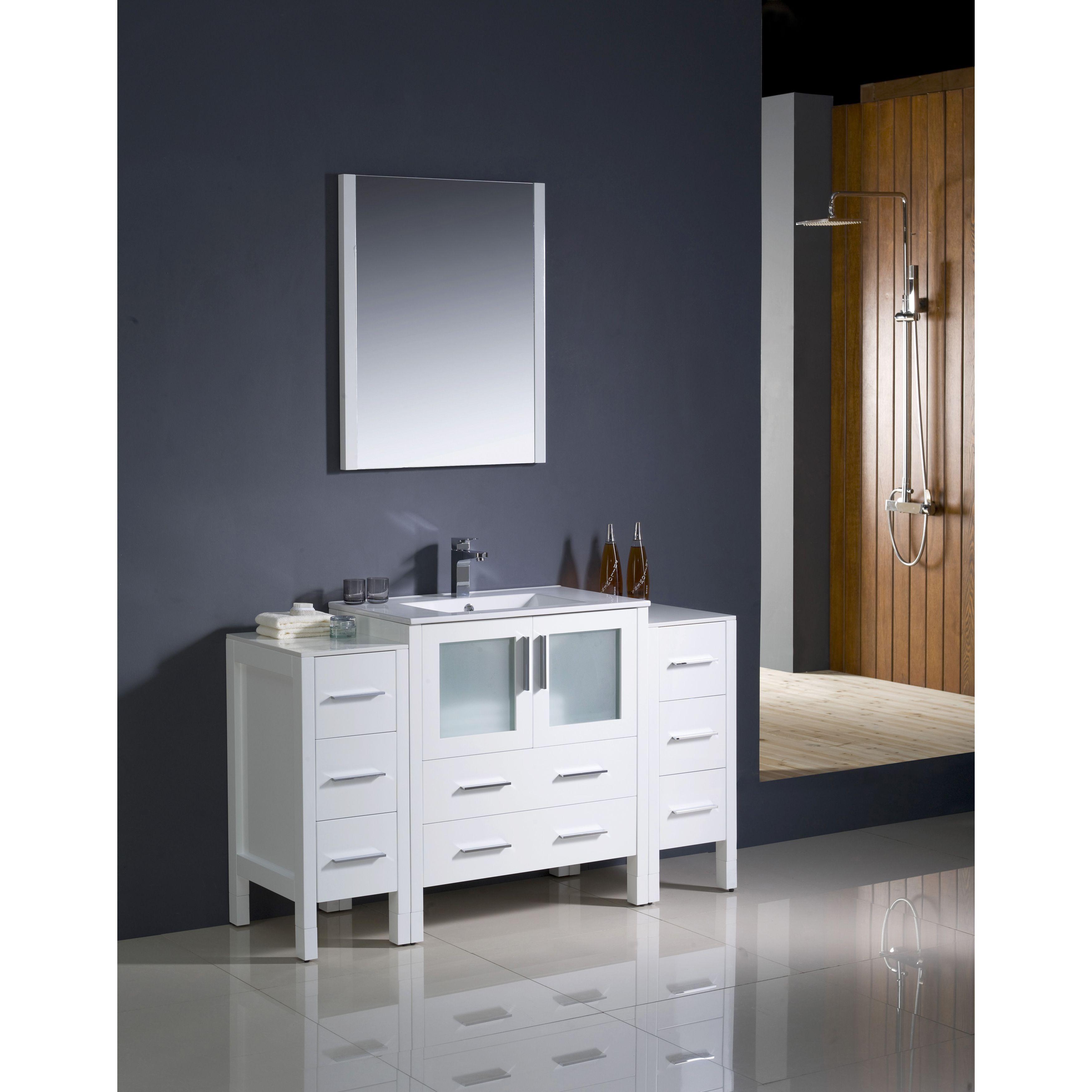 Fresca torino inch modern bathroom vanity with side cabinets