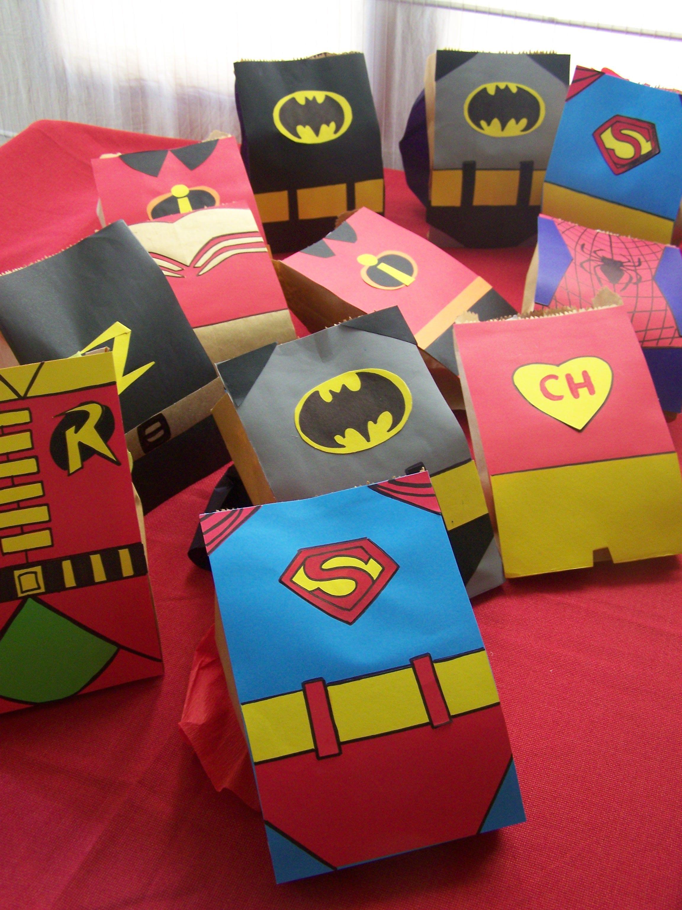 002 Superheroes in paper bag form Camp ideas Pinterest