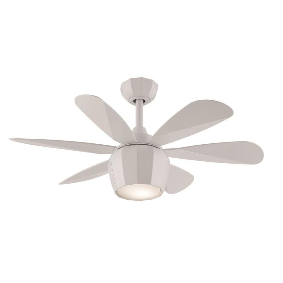 Fanimation Studio Collection Crease 36 In Matte White Indoor Downrod Mount Ceiling Fan With Light Kit And Remote Ceiling Fan With Light Fan Light Ceiling Fan