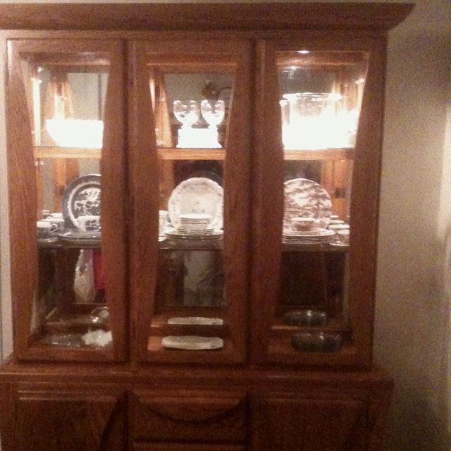 Absolutely love my new china hutch!! It was a real steal on craigs list!!