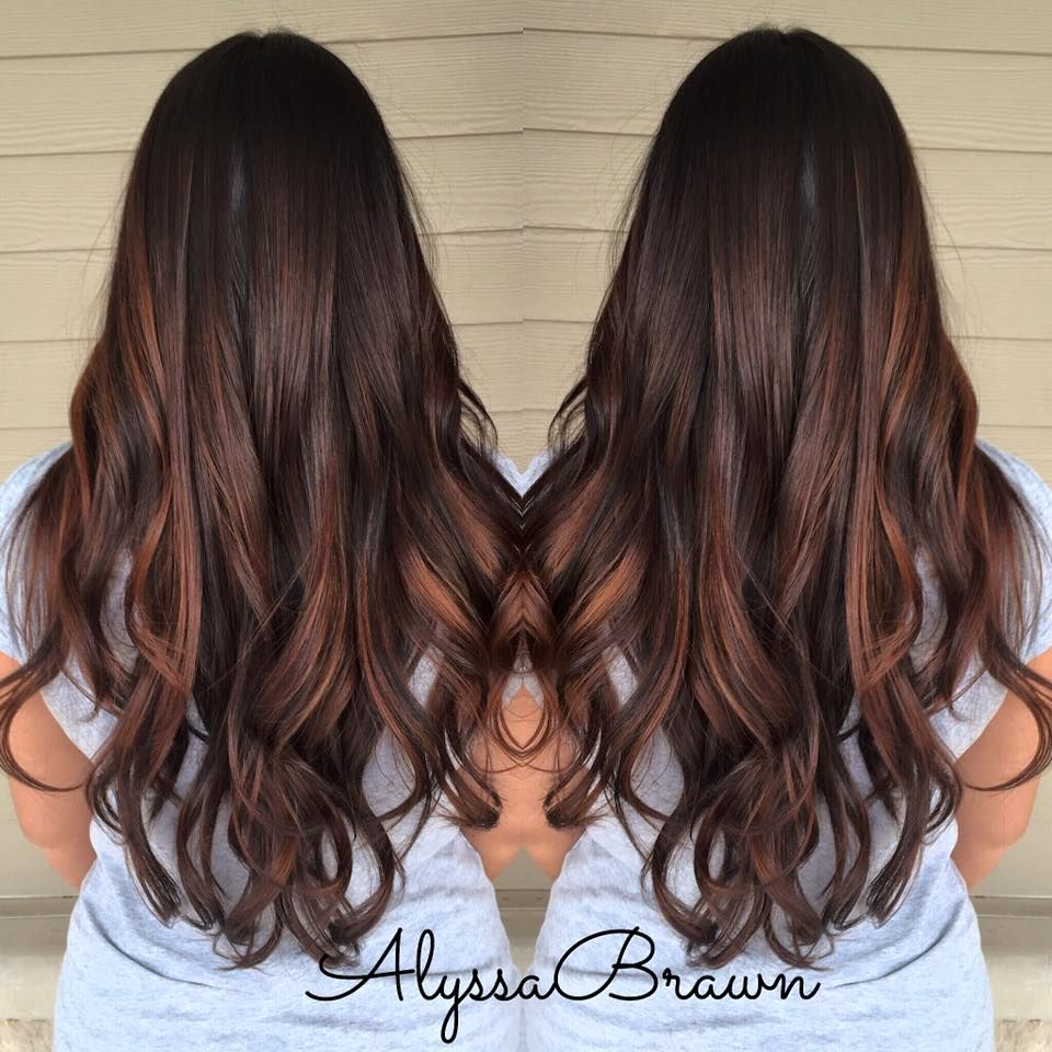 balayage hand painting long hair layers highlights melting dark hair caramel highlights. Black Bedroom Furniture Sets. Home Design Ideas