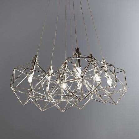 Quinn Chrome Cluster Fitting Ceiling Pendant Lights Ceiling