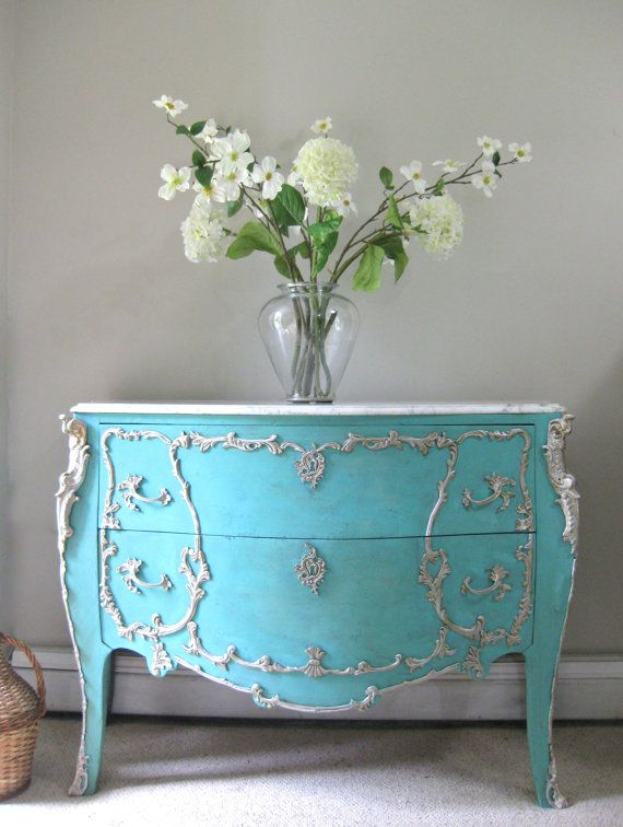 reserved for meira deposit french provincial louis xv style aqua turquoise marble top. Black Bedroom Furniture Sets. Home Design Ideas