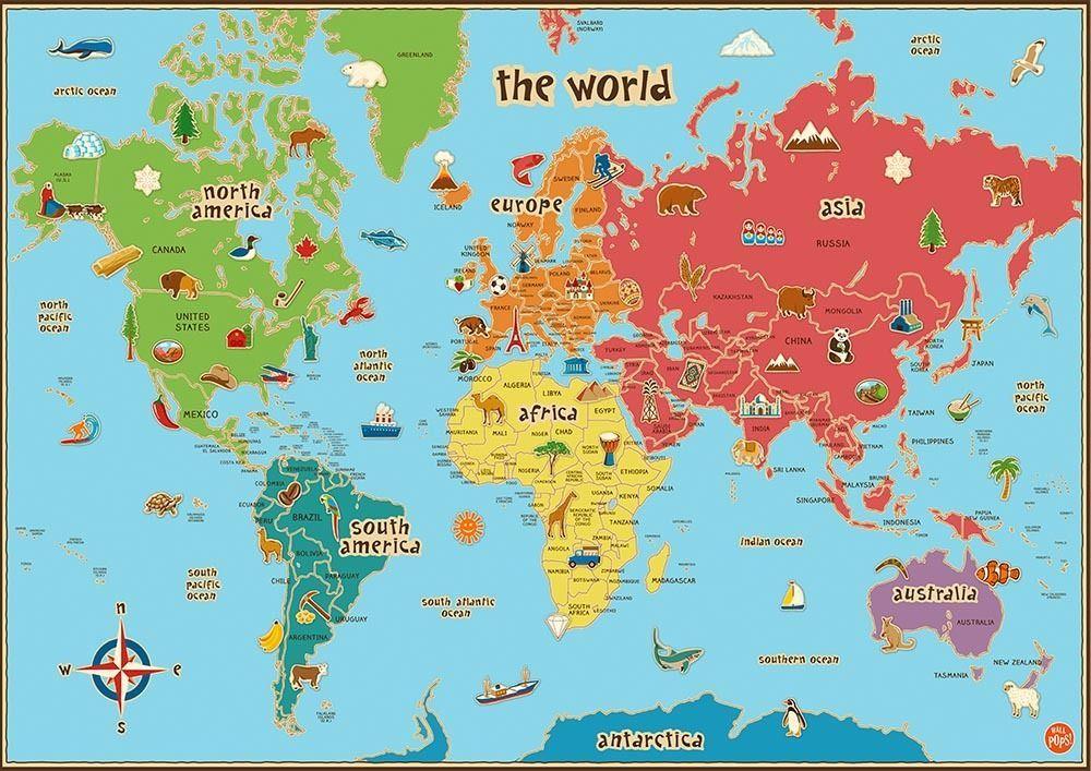 photo relating to World Map for Kids Printable identify Pin upon Å¡kolka