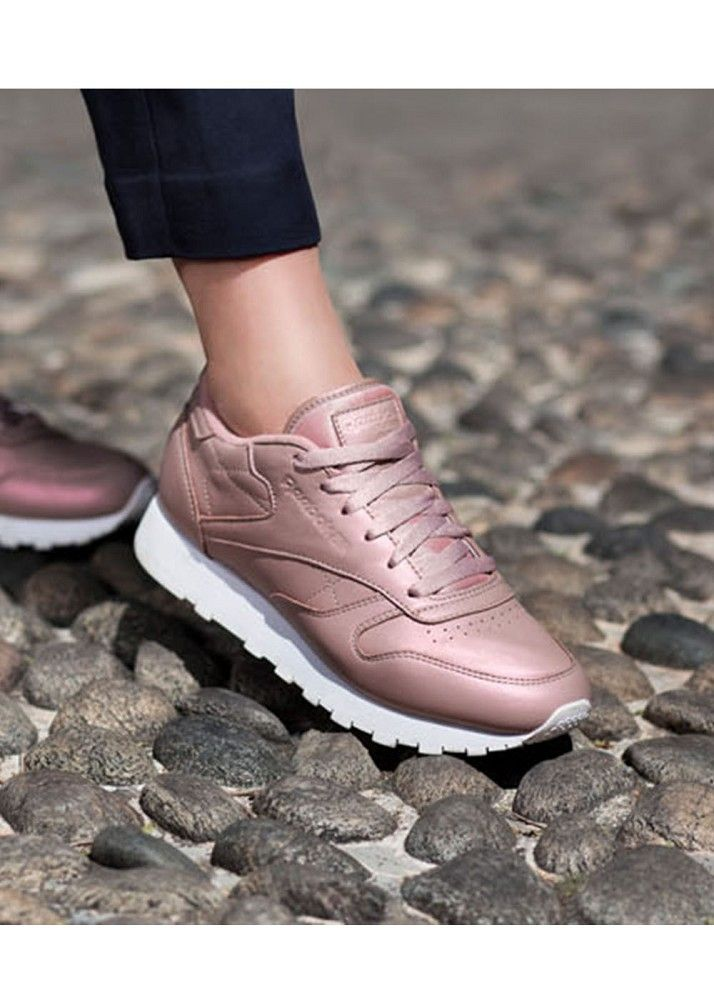 REEBOK CL LTHR Pearlized ROSE GOLDWHITE | Sneaker trend
