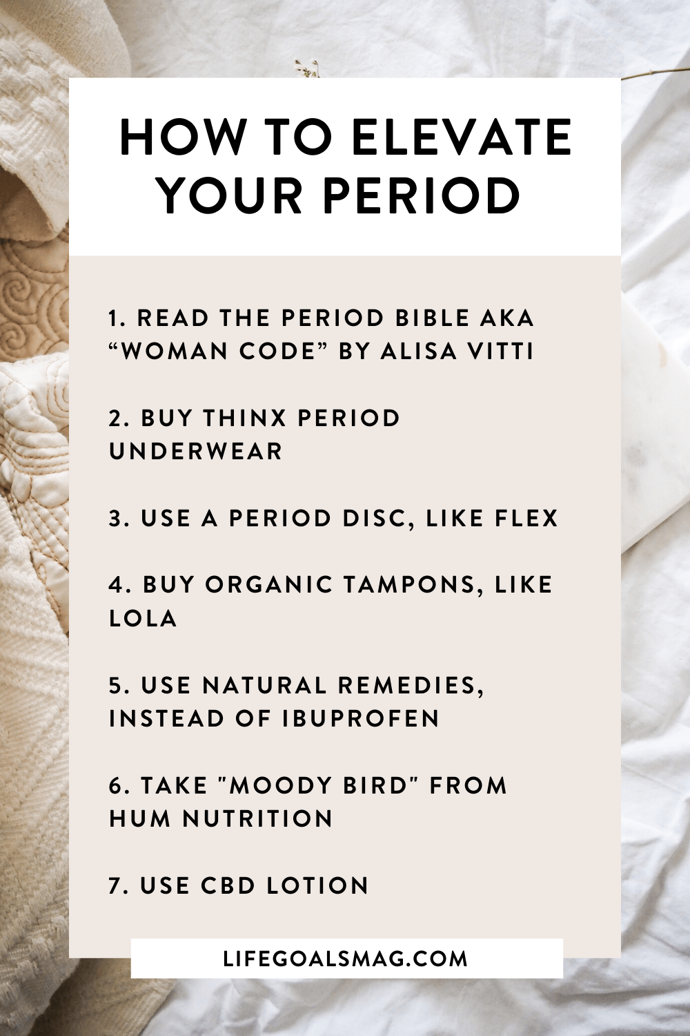 How To Elevate Your Period Wellness In 2020 Life Goals How Are