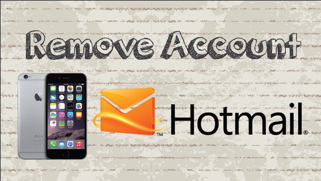How to remove account on Outlook / Hotmail Mobile App
