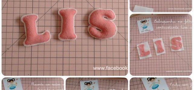 Come fare alfabeto con bordo in pannolenci – Tutorial