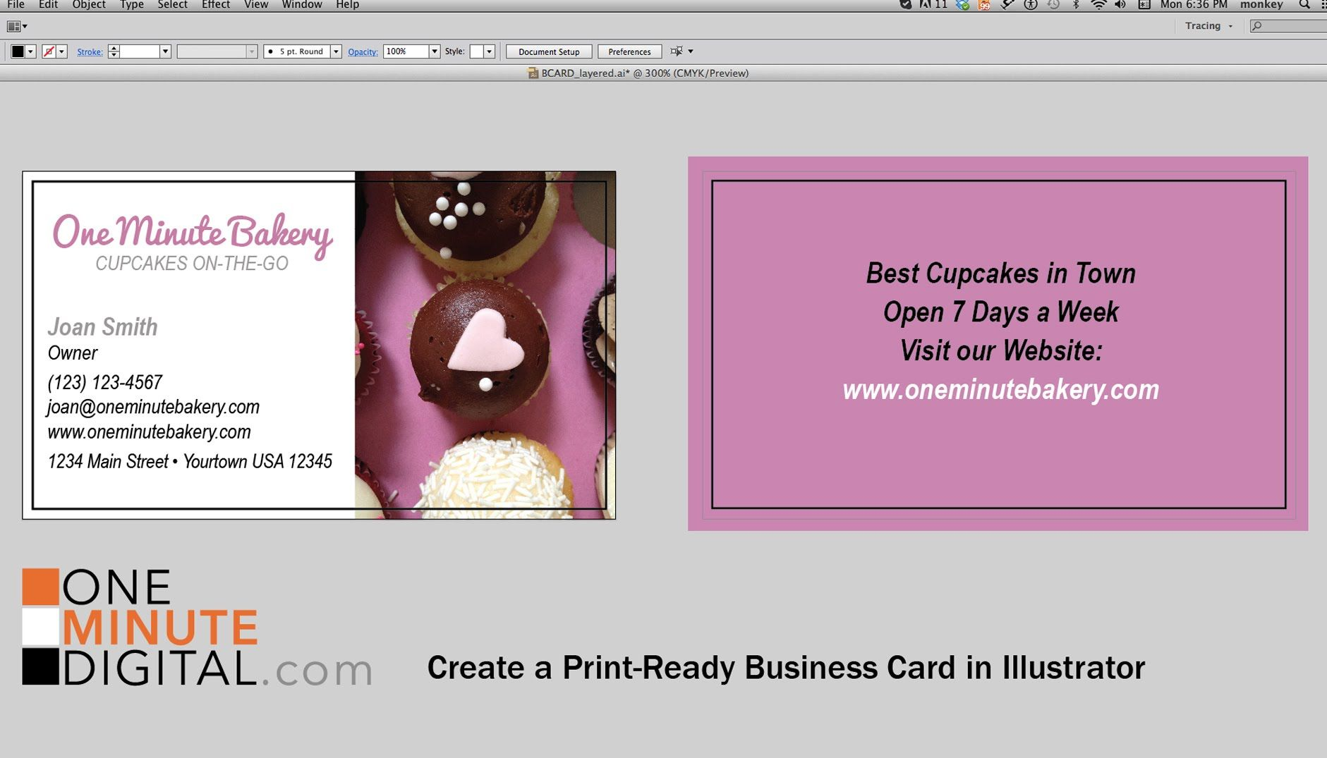 Create A Print Ready Business Card In Adobe Illustrator From Start To Fi Make Business Cards Printing Business Cards Custom Business Cards
