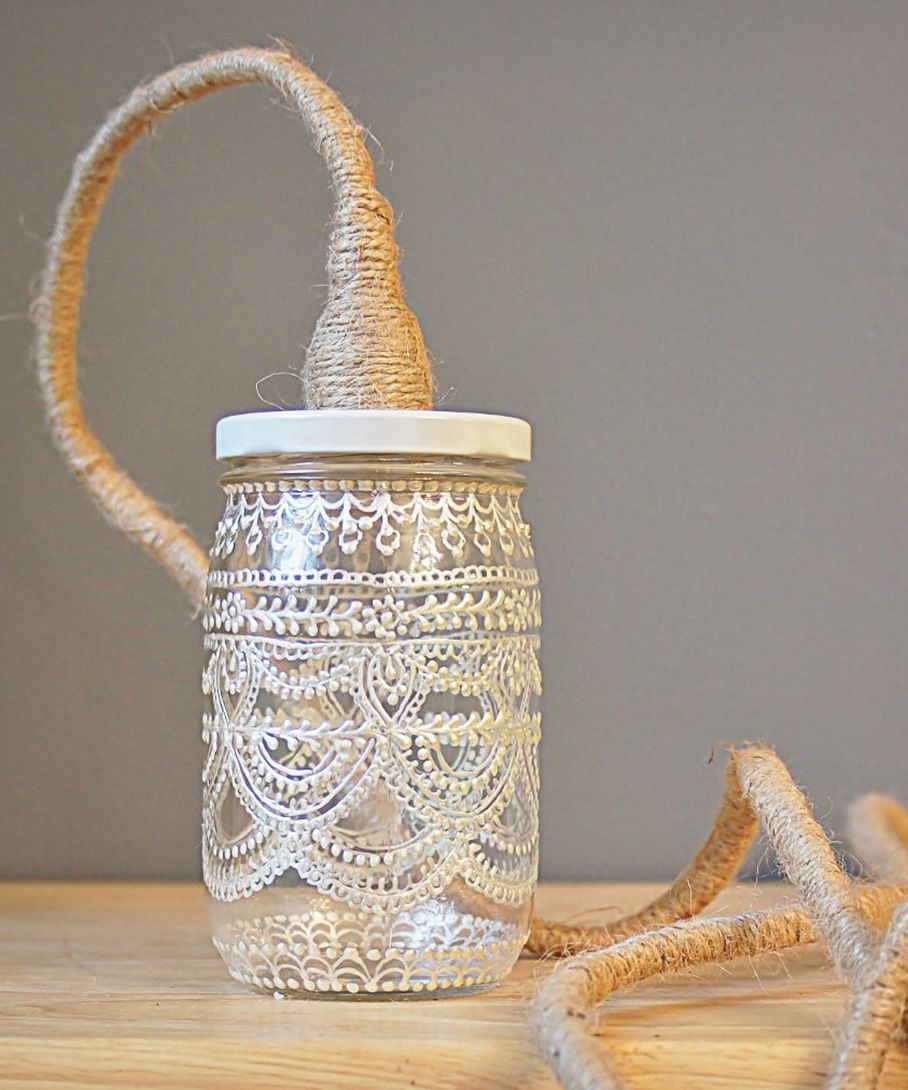 Great For Outdoor Entertaining Wedding Mason Lamp Handmade