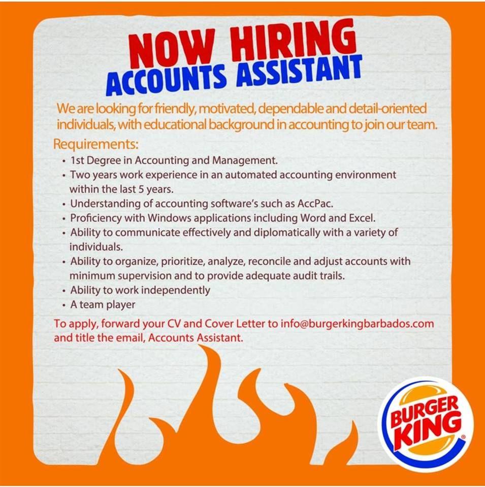 Burger King Barbados Caribbean Jobs Online Jobs Job Website