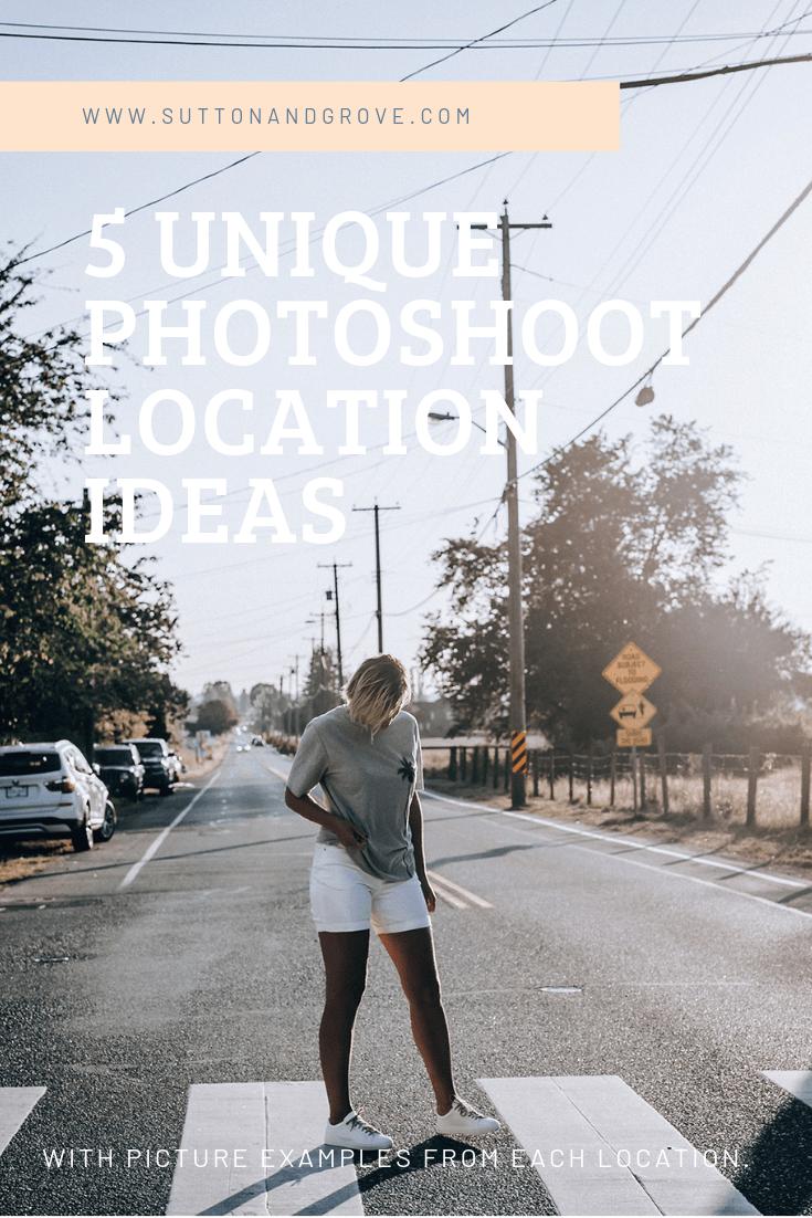 Photoshoot location ideas