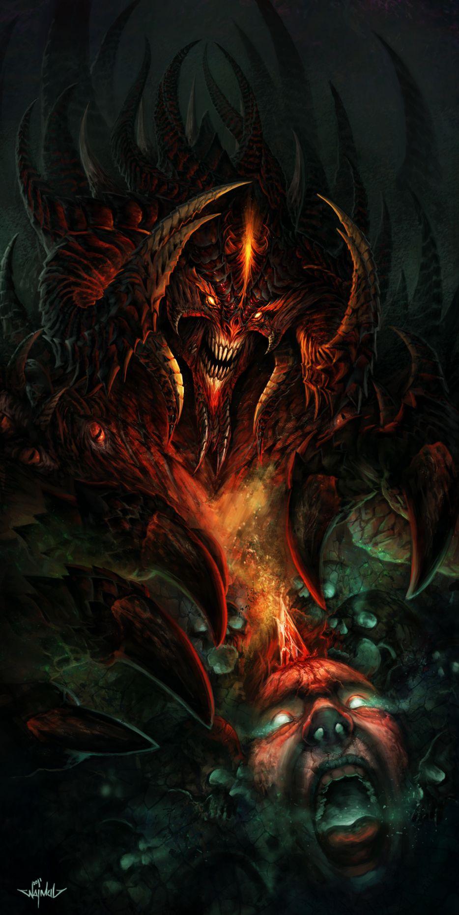 The Dark Lord Diablo 3 Fanart Fantasy Illustration Dark