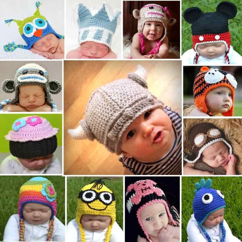 Baby Kids Crochet Hats Beanie Bonnet Boy Girl Gift Owl Knit Child