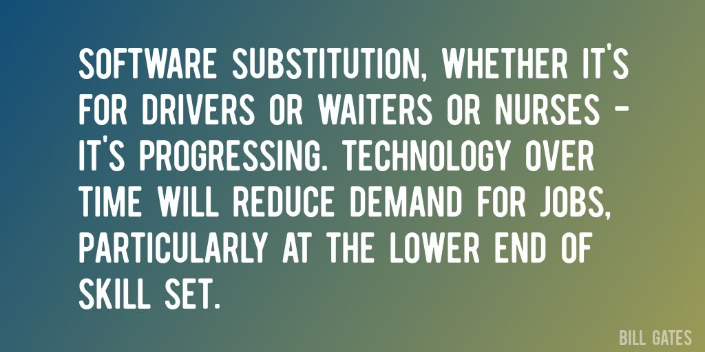 Quote by Bill Gates u003du003e Software substitution, whether itu0027s for - software quote