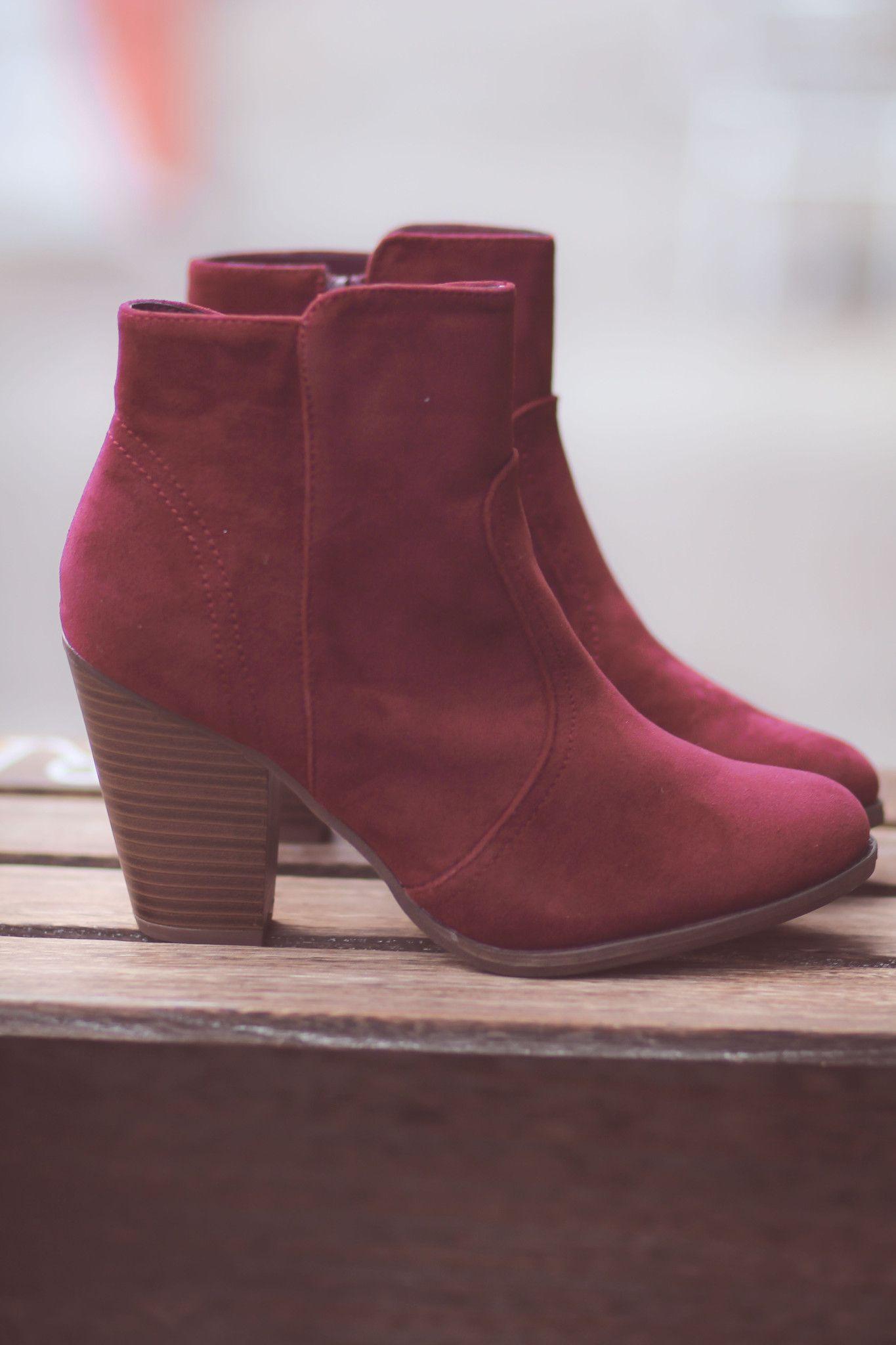 3c454401275c Wine To Me Short Heel Booties - NanaMacsBoutique - 1   Fall   Shoe ...