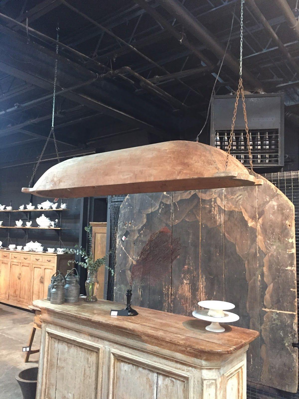 Vintage Dough Bowl Light Fixture  What An Amazing Piece