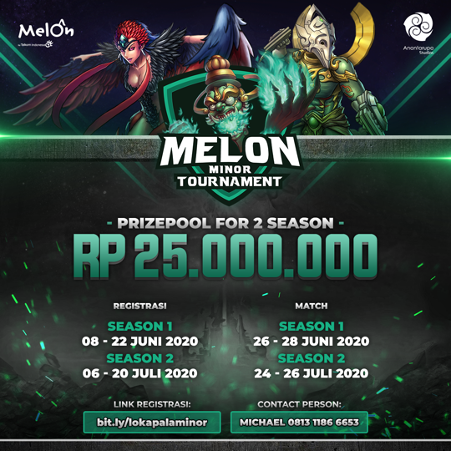 Bersiaplah Para Ksatriya Lokapala Tunjukkan Kemampuan Kalian Di Melon Minor Tournament Asia Tenggara Kerja Keras Melon