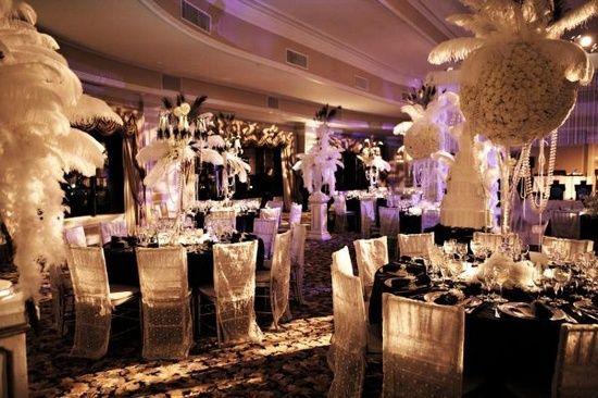 great gatsby table decor | Great Gatsby Wedding Theme | Whiteme.net ...