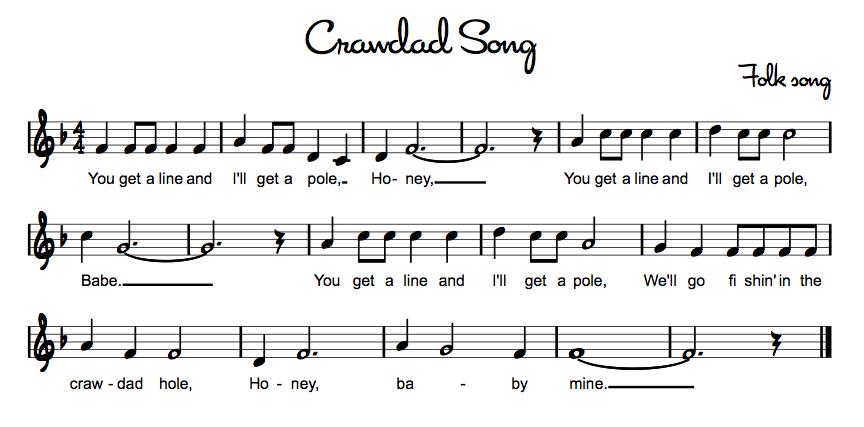 Beths Music Notes Crawdad Song Glockenspiel Pinterest Music