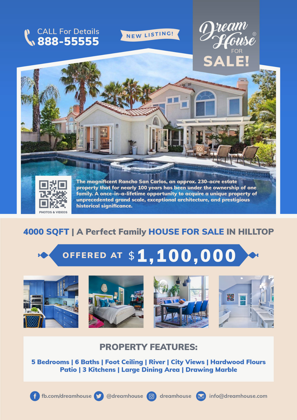 Free Real Estate House For Sale Flyer Template In Psd Real Estate Houses Sale Flyer Real Estate Flyers