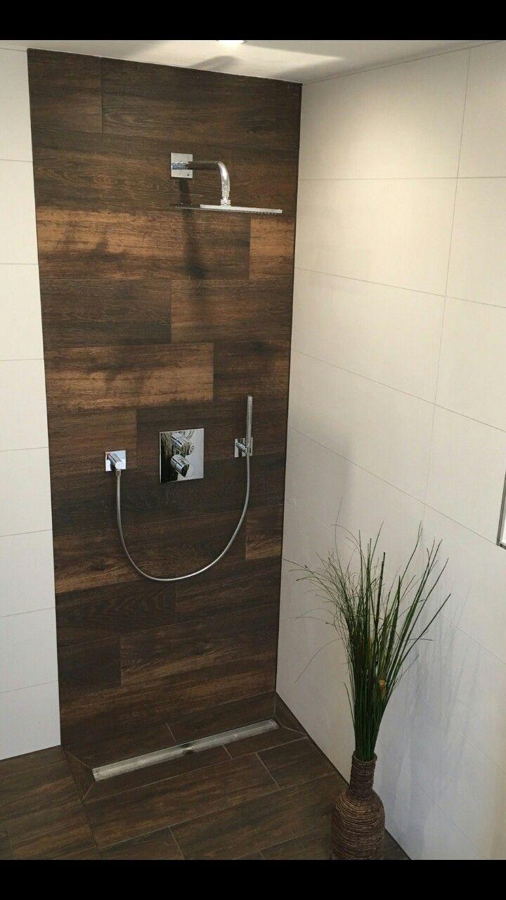 Dusche Holzoptik Fliesen  Fliesen  Pinterest  Badezimmer Dusche fliesen und Bad fliesen
