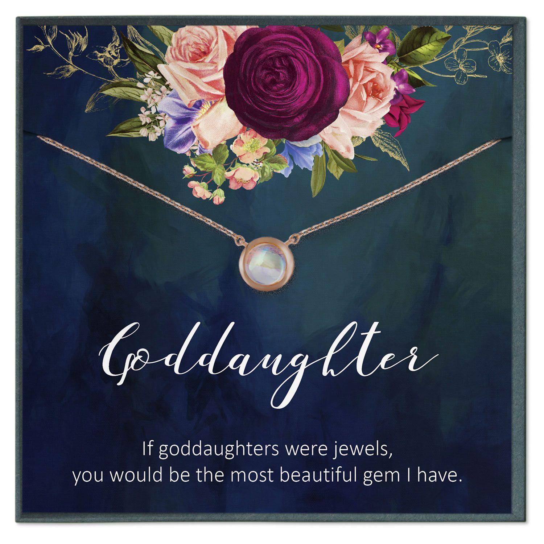 Goddaughter gifts idea goddaughter necklace baptism gift