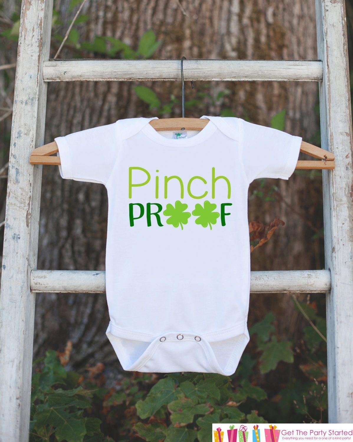 328f7869 Kids St. Patricks Day Outfit - Pinch Proof Onepiece - Novelty St ...