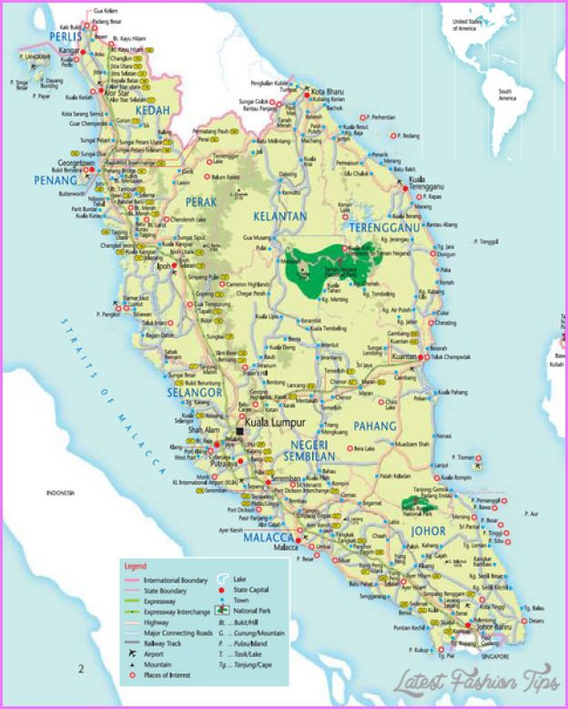 Malaysia Tourist Attractions Map nice Malaysia Map Tourist Attractions | Latestfashiontips