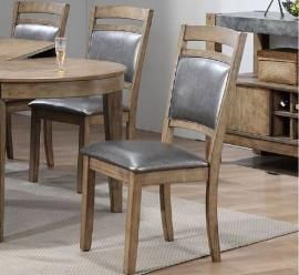6c2178892a96 Poundex F1711 Rustic Wood Dining Chair Set of 2 | Dining chairs ...