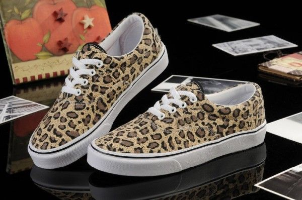 yellow leopard print canvas shoes with
