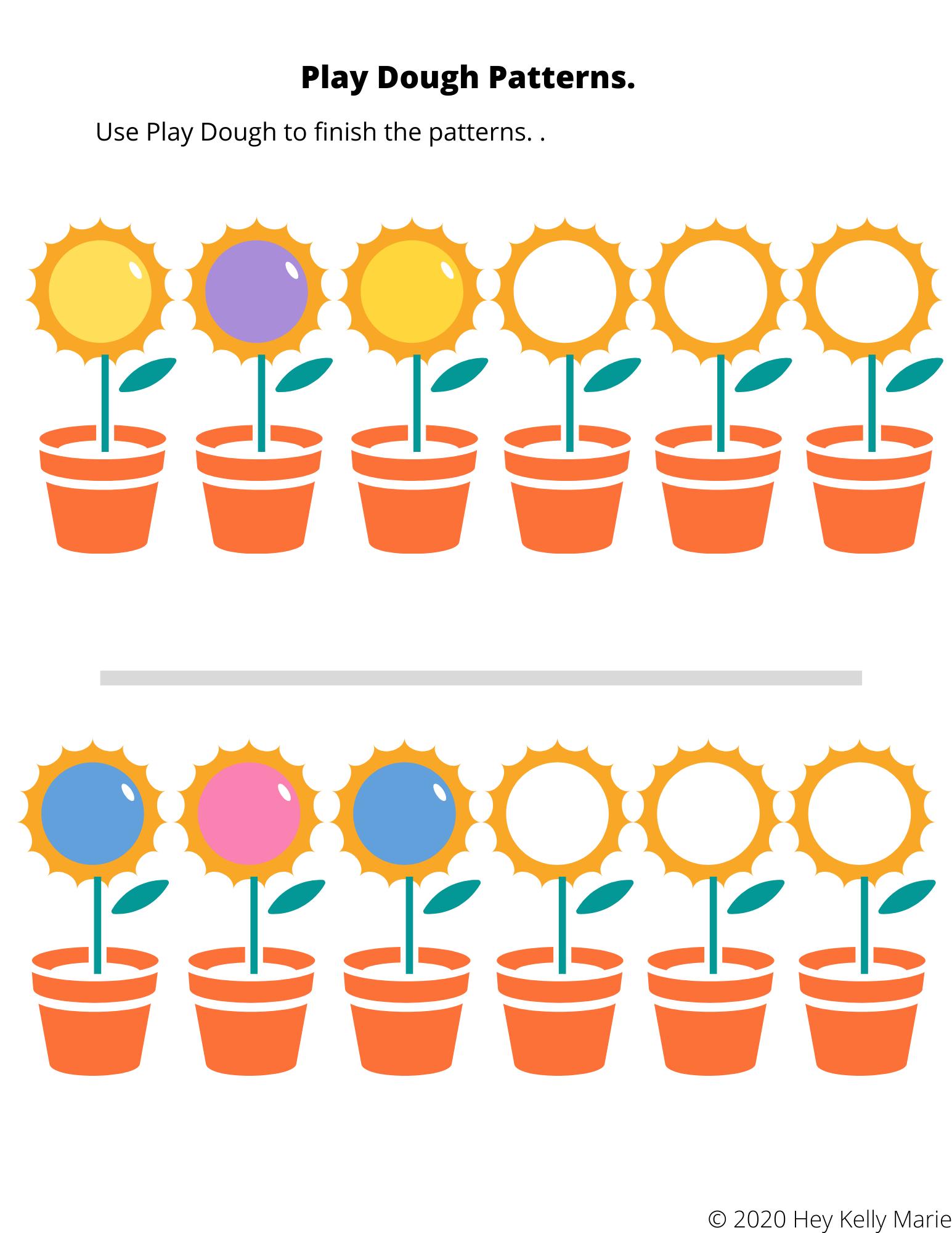 Free Printable Preschool Patterns Workbook