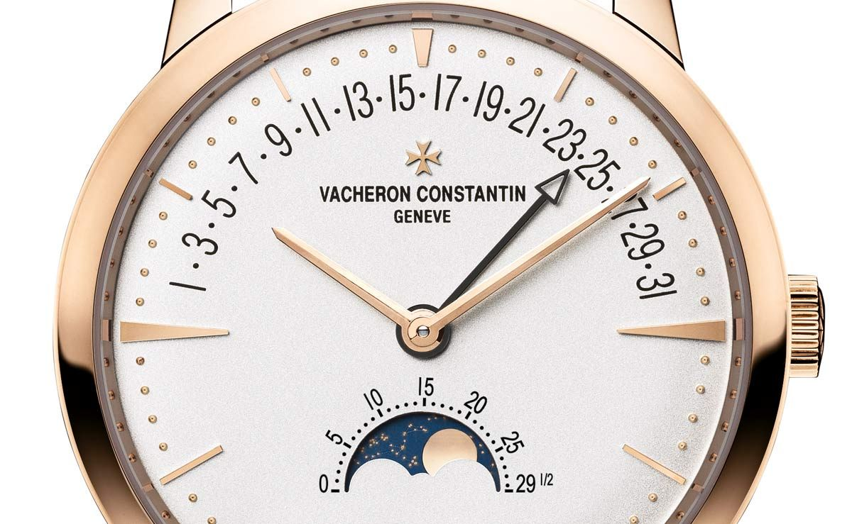 Unveiled ahead of the SIHH 2017, the new Patrimony moon phase and retrograde date from Vacheron Constantin combines a moon phase complication with a retrograde date indication, graduated from 1 to 31 across the upper dial arc. The new Patrimony moon phase and retrograde date is certified by the prestigious Hallmark of Geneva. Price to be announced.
