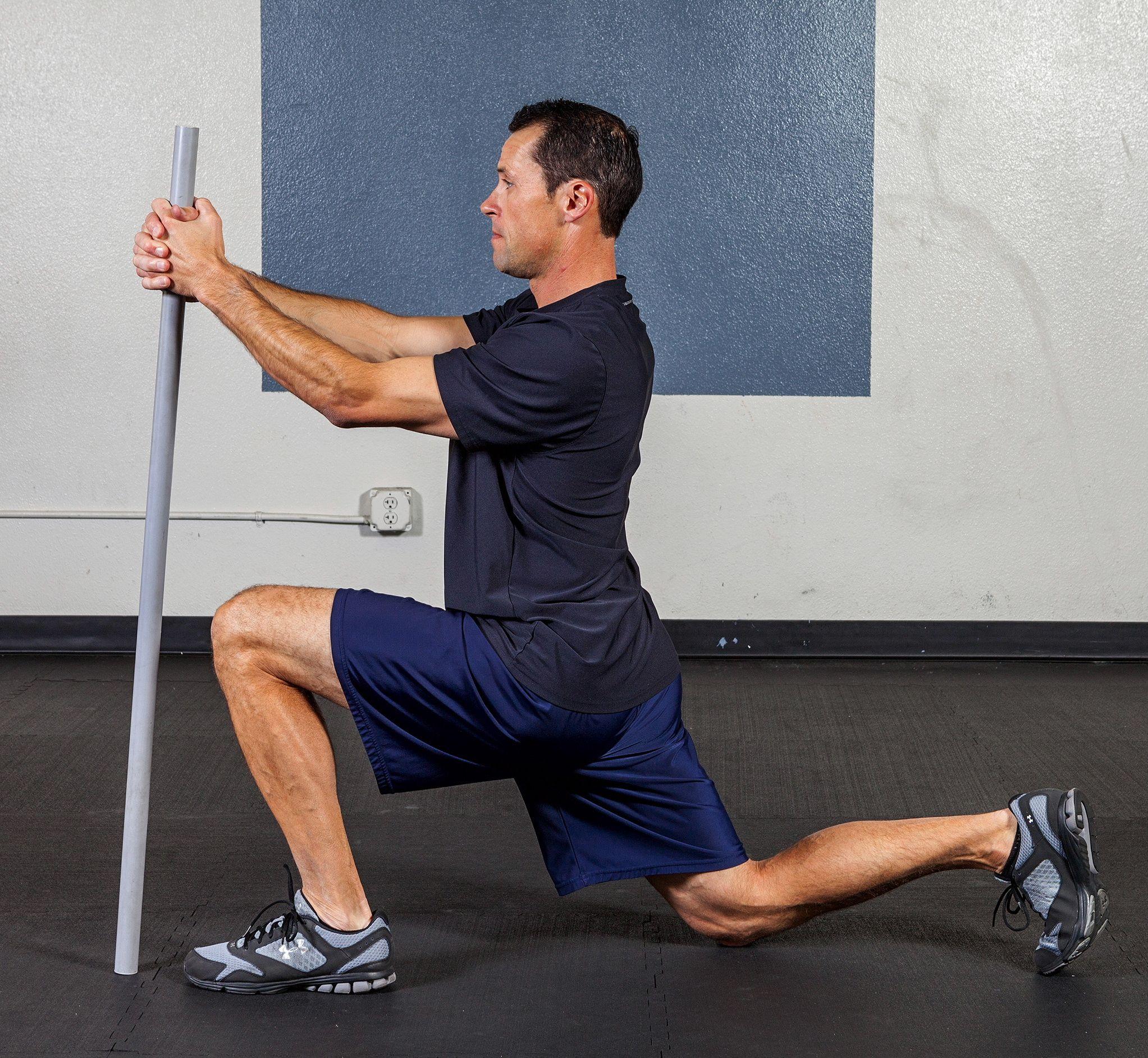 Kneeling Hip Flexor Press Dynamic flexibility exercise ...
