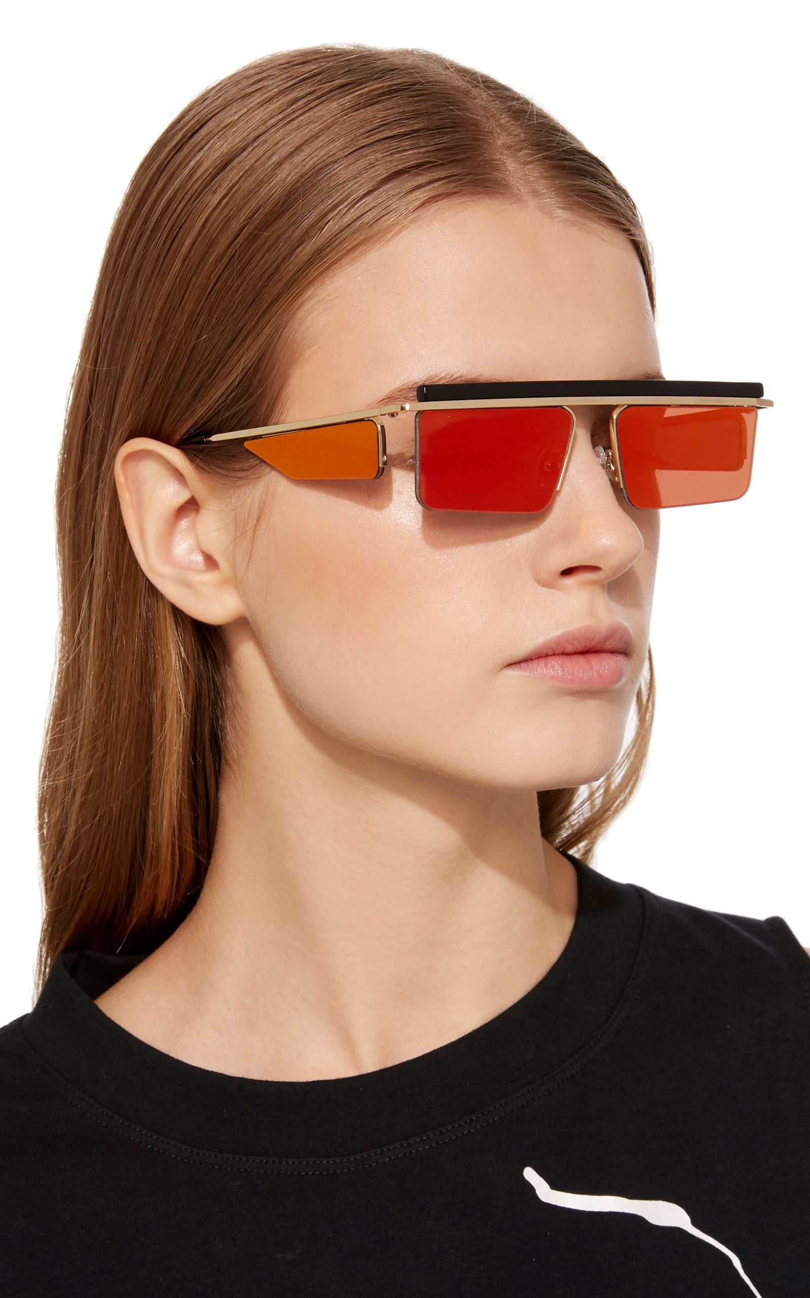 b95f82bfdd322 The Flex Square-Frame Sunglasses by ADAM SELMAN X LE SPECS Now Available on  Moda Operandi