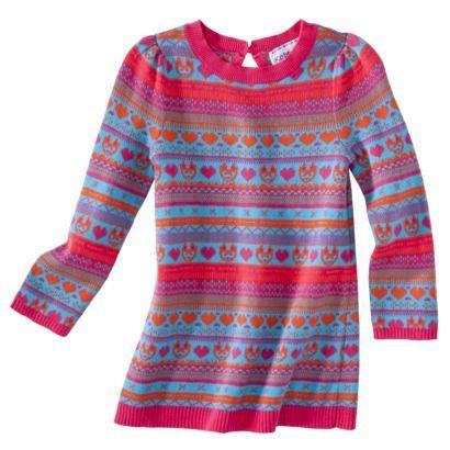 Infant Toddler Girls' Fair isle Sweater Dress - Pink, Target.com ...