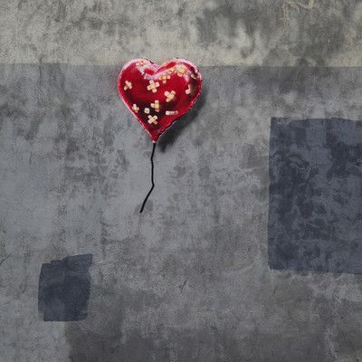 "JaxsonRea ""Broken Heart"" by Banksy Graphic Art on Wrapped Canvas Size:"