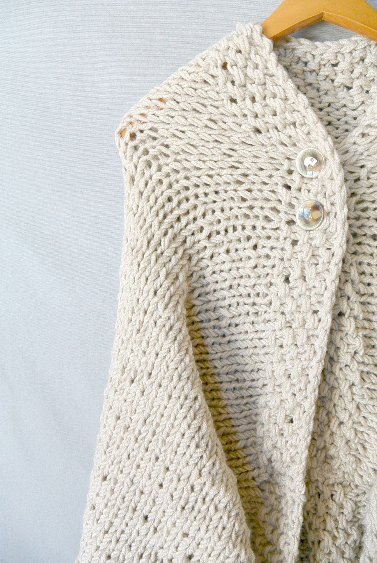 Easy Knit Blanket Sweater Pattern | knitting | Pinterest | Tejido ...