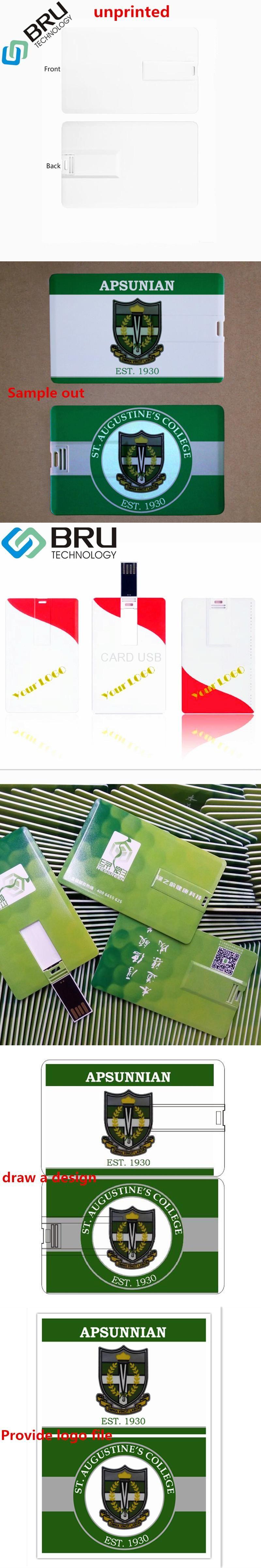 1gb Usb Flash Drive Credit Card Pendrive Business Name Shaped Usb