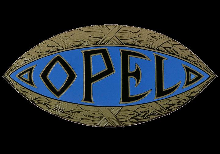 Opel Logo [1910], 1910 «the blue eye» Opel Car Symbol and