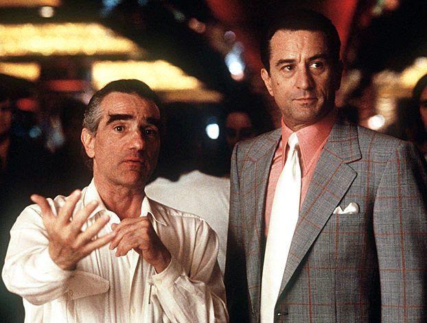 Martin Scorsese Directing Robert De Niro On The Set Of Casino