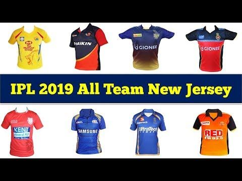 f774c89d VIVO IPL 2019 All Team New Jersey KKR, CSK, RCB RR, MI, SRH, DD, KXIP, .