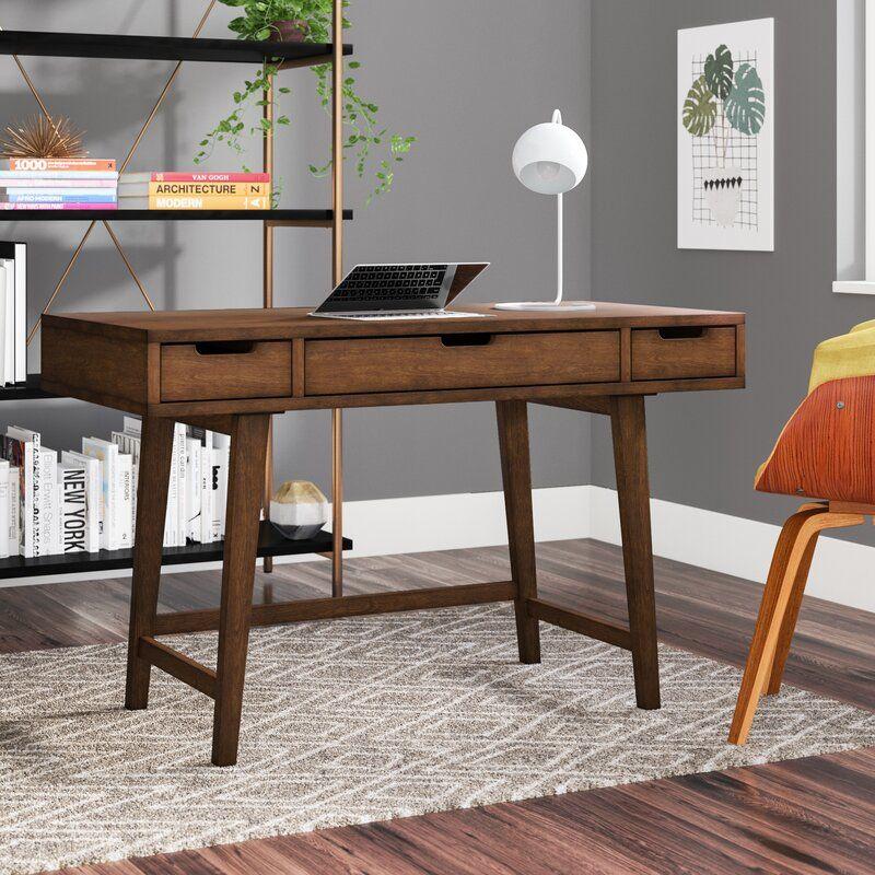 Langley Street Sverre Solid Wood Writing Desk Reviews Wayfair Solid Wood Writing Desk Wood Writing Desk Solid Wood Desk