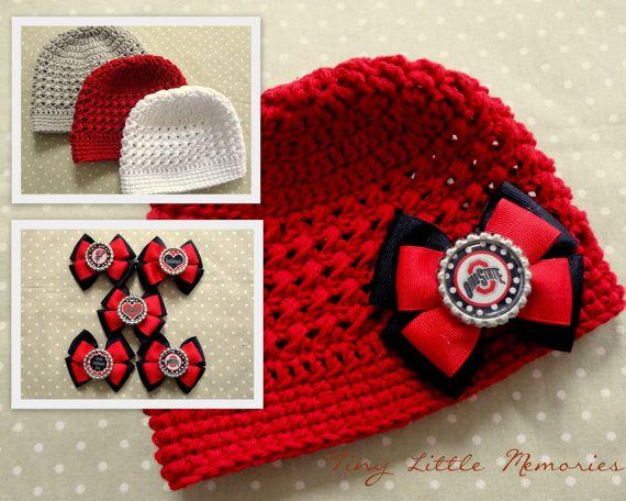 75fee601b9c Ohio State Baby Girl OSU Buckeye Ribbon with by TinyLittleMemories ...