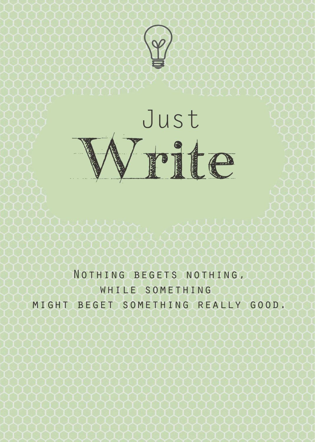 writing motivation print in mint green just write new years writing motivation print in mint green just write new years resolution inspirational typography