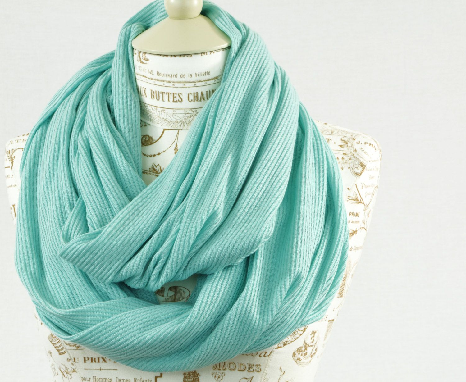 Mint Infinity Scarf Sweater Knit Green Jersey by ...