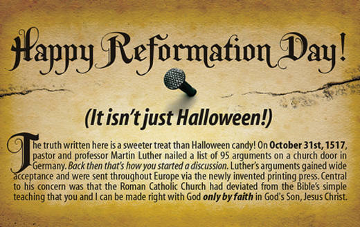 Happy Reformation Day! - Christian Chat Rooms & Forums | Signs ...